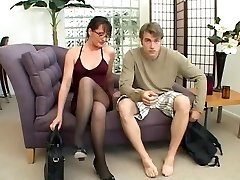 Cougar loves to play with a big manmeat