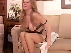 Vintage Fur Covered Mature has a Threesome and DP in Undergarments!