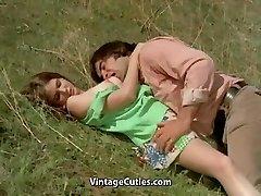 Man Tries to Tempt teenager in Meadow (1970s Vintage)