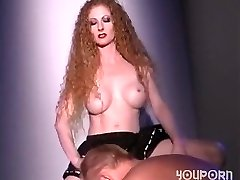 Torrid redhead fucks a guy