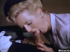 Porn Starlet Aunt-in-law Peg gives a guy a blowjob
