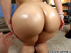 Mia Bella loves to show off her big fat ass as she sucks cock and fucks.