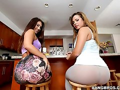 Keisha Grey & Eva Lovia. I promise your gonna love watchin these phat ass ladies work.