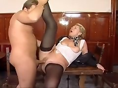 Old lady hires another boy fucktoy