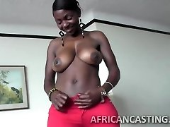 African cutie enjoys riding cock
