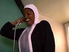 African French nun sucking and fucking big black beefsticks