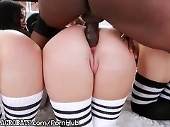 BBC Gaping Rump Pummeling for Dana, London and Maddy!
