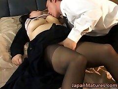 Japanese mature female has hot sex