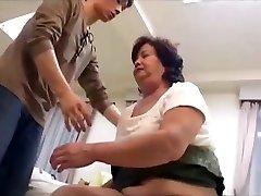 Hairy plumper japanese granny loves taboo