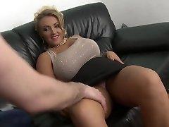 blonde milf with big congenital tits shaved honeypot fuck