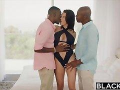 BLACKED Wife Peta Jensen Cheats With Two Fellows