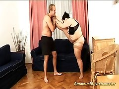 fat extreme flexible houswife