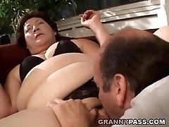 BBW Grandma Gets Her Fat Vag Stuffed