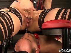 Wet and filthy femdom from MonicaMilf - Norwegian face-sitting