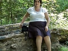 Upskirt caboose in the woods part 2