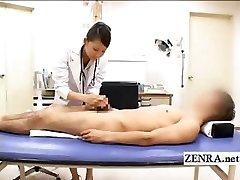 CFNM Japonski milf zdravnik bathes bolnikov, trdi penis,