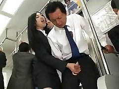 Japanese Handjob In Bus