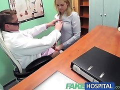 FakeHospital Killer blondie saleswoman gets plumbed on the doctors desk to secure an order