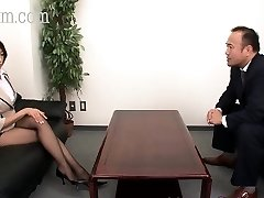 Japanese Pantyhose ultra-cutie with ginormous tits gets a cumshot