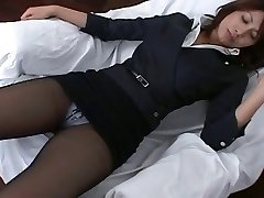 Pantyhose Asian Office Nymph Teasre