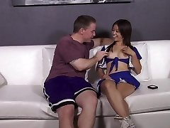 Asian CheerLeader fucks her friends dad