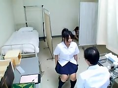 Cute Jap teen has her medical exam and gets unsheathed