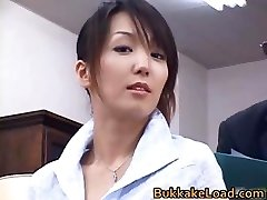 Mind-blowing real asian Shiho getting jizm part3