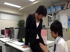 Office girl wank in office with co-worker