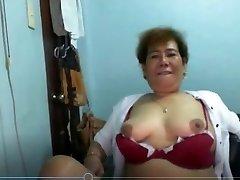 Elen Valdez mature Pinay from Manila demonstrating on Skype