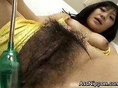 Cute Asian model shows off her super hot puss