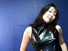 Japanese mature tramp getting real randy on her own