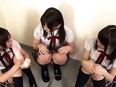 úžasné japonské dievča nana usami, akira matsushita, cocomi naruse v najlepších skupinový sex, college java-video
