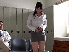 JAV star Rei Mizuna schoolteacher striptease Subtitles