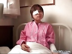 Sweet wooly Asian teen urinating in the part4