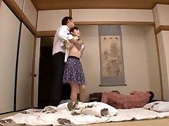 Housewife Yuu Kawakami Torn Up Hard While Another Man Watches