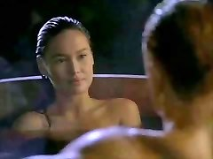Asian Tia Carrere goes for Dolph Lundgrens Big Blonde Cock