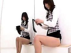 Sexy Japonesa babes expor sua fabulosa curvas no cha