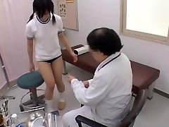 Teen gets her pussy inspected by a naughty gynecologist