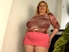 Mega-mom with giant saggy boobs & young man