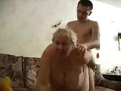 Grandma fucks her boy