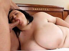 Big-boobed Teen BBW Catches Tutor Sunbathing in the Nude