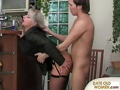 Smoking Cougar fucked from behind
