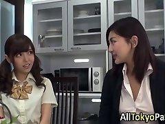Japanese lez teenagers finger