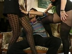 MFF Steve got involved with two scorching MILFs in pantyhose