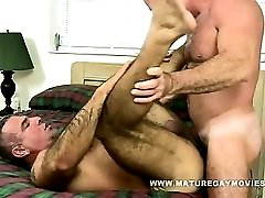 Muscular Daddy Fucks His Mature Fit Friend
