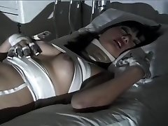 Purple Haired Gothic Asian Puts On One Horny Fetish Flash