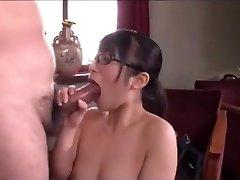 Japanese office girl deep throat service
