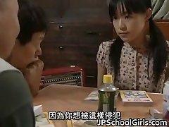 Asian Babe in Gangbang orgy