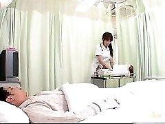 Horny JPN nurse doing figure examination to this part1