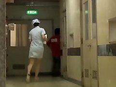 Mischievous Japanese bottom sharking for the polyclinic nurse